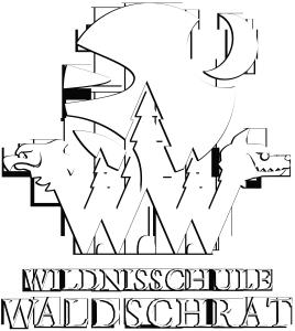 LOGO_Wildnisschule-Waldschrat_weiss_schatten